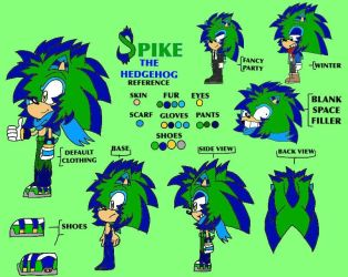 Spike The Hedgehog REFERENCE/CHARACTER SHEET by Pickles-of-Destiny