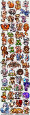 Fifty Cartoon Animal Tattoos by celesse