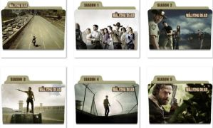 The Walking Dead Folder Icons by nellanel