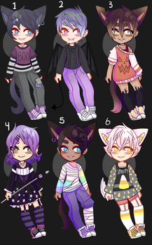 Halloween Kemonomimi Adopts .open (price lowered) by Divinity-Adopts