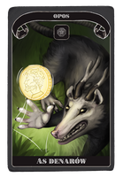 LU: tarot Opos, As Denarow by Shiszka
