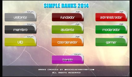 Simple Ranks 2014 by mazeko