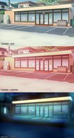 Convenience Store Background by Konett