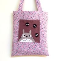 Happy totoro and soot purple bag by yael360