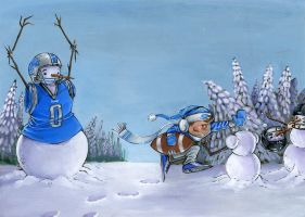 Detroit lions christmas card by remillardart