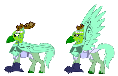 Galescream the Emerald Hippogriff (Sound Sage) by TreeofLife911