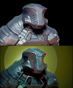 Alien armored concept for the migs by mojette