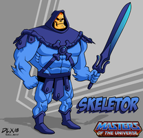 Skeletor by dwaynebiddixart