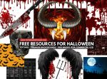 Halloween Textures Backgrounds and PNG Cuts Free by PsdDude
