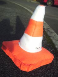 traffic cone plushie by campervanfrog
