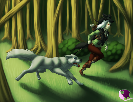 Running with Wolves by phoenixbat