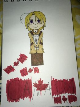 Y-You noticed me? I-I'm Canada  Kumajiro  by chatnoirlove13