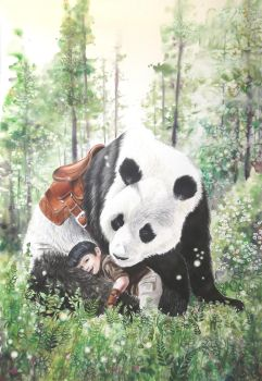 A Boy and his Panda by In-The-Distance