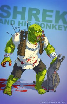 Shrek and his donkey BADASS by Tohad