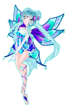 Feelie Sister: Flocon Fairy of Glaceon by Dessindu43
