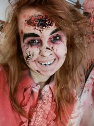 Head Wound makeup by LaurenHasCombusted