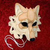 Tan Cream Dire Wolf Mask by merimask
