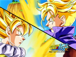 Eyecatch: Goku and Trunks by Ezio-anime