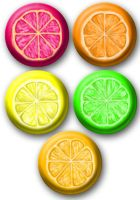 Citrus Slices buttons by e-tahn