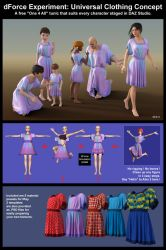 Universal Clothing Concept for DAZ Studio by chachah