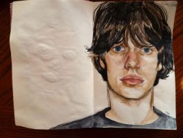 Young Mick Jagger by lawlosaur