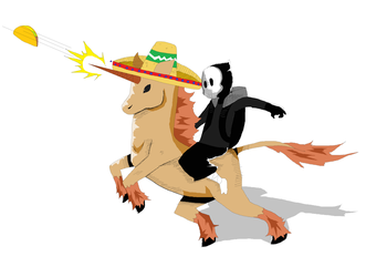Skull's Taco Unicorn by Vectony