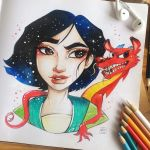 Mulan by TheLittleArtyThing