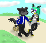 Walking to a picnic spot by thedragonlover95