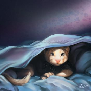 Ferreting Around - SpeedPaint by GoldenDruid