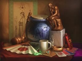 Ace Attorney Still Life by Photia