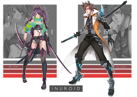 [CLOSED] Inuroid Fighter Auction by CemarAdopts