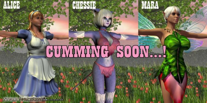 PREVIEW Cumming Soon - Alice-Chessie-Mara by StoneSorceress