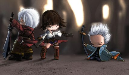Devil May Cry 3 Babies by the-crazy-spork