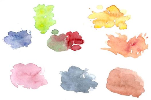 Assorted watercolour spots by Babybird-Stock