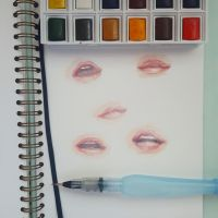 Lips Watercolor Study by bys0n