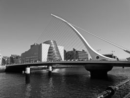 Harp Bridge Dublin by UdoChristmann