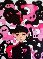 Mob and Ghosts by HannaLoony