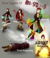 5 types of Ridgedog by Drawing-Moo