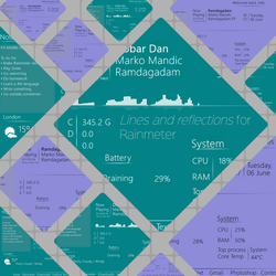Lines and reflections for Rainmeter by Darksted