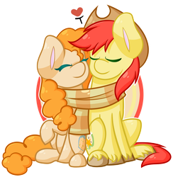 Chibi MLP - Pear Butter and Bright Mac by Ak4neh