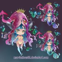 adoptable chibi mermaid by marvioxious89