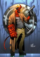 Hellboy - fanart- COLOR by hulkred