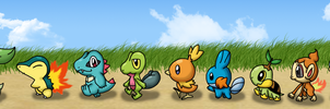 walk of the starters finished by Kat-Skittychu
