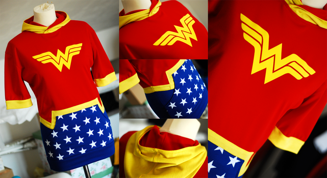 WONDER WOMAN: diana of themyscira hoodie dress by envylicious