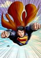 Man of Steel Manga Studio Test 1 - MLG13 by Moislopez