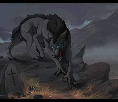 He looms at dark - Commission. by Eredhys