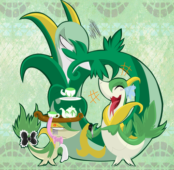 Snivy is Not Amused by SoftMonKeychains