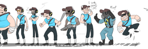 TF2: Meet the Scouts by DarkLitria