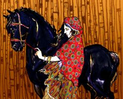 gypsy and horse by bluefooted