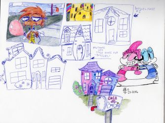 Background and BoyGirl house practice by spongefox